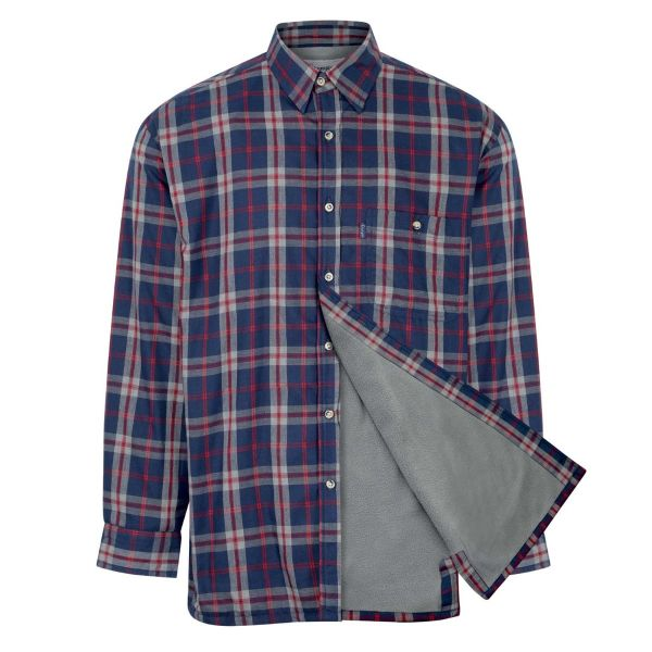 Stroud Blue - Microfleece Lined Shirt from Champion