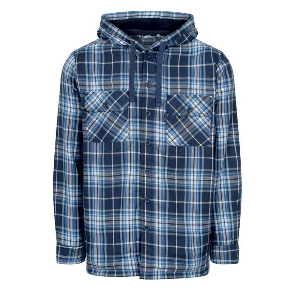 Merrow Blue - Microfleece Lined Hooded Shirt from Champion