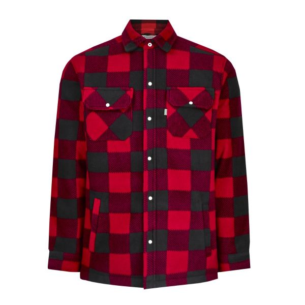 Kinross Red - Padded Fleece Shirt with Quilted Lining from Champion