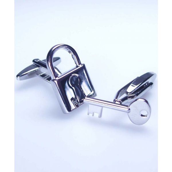 Padlock and key cufflinks