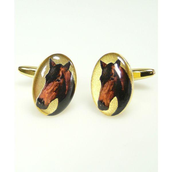 Horses Head Cuff links