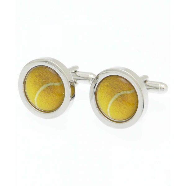 Tennis Ball Cufflinks from Fox and Chave
