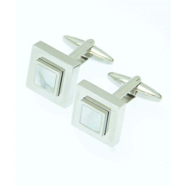 Square in Square Mother of Pearl Cufflinks