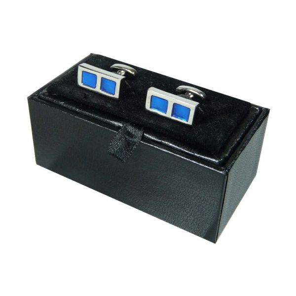 Two Blue Squares Cufflinks