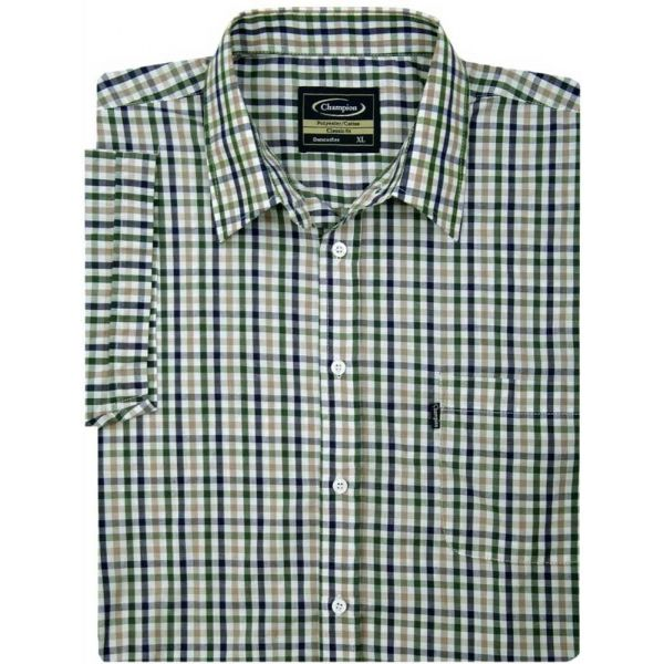 Doncaster Green - Short Sleeve Easycare Shirt from Champion