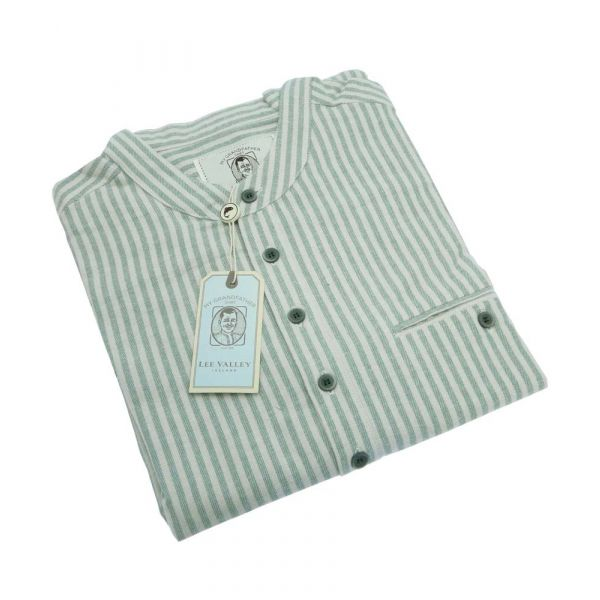 Green and Cream Grandfather Shirt from Lee Valley