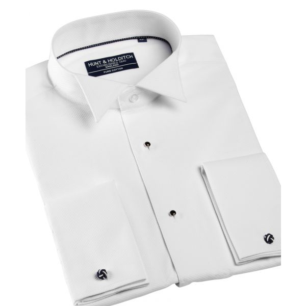 100% Cotton Wing Collar Marcella Dress Shirt from Hunt & Holditch