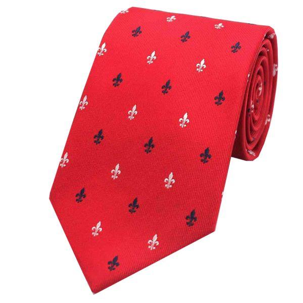 Fleur-de-Lys Design Tie from L A Smith