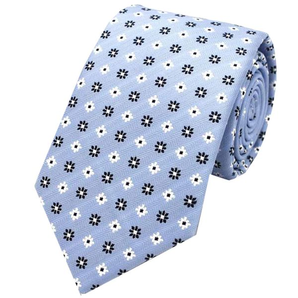 Neat Flower Design Tie from L A Smith