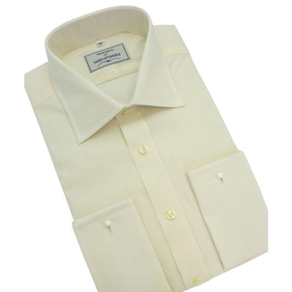 Classic Cream Poplin shirt(double cuff)