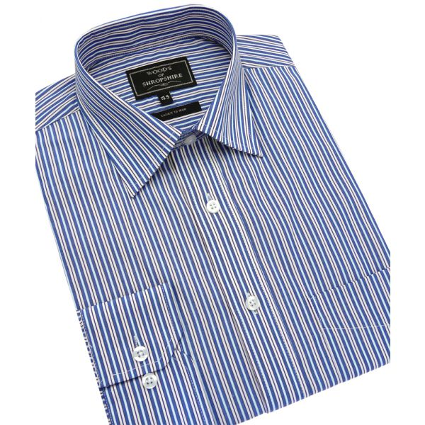 Double Blue Stripe Easycare Shirt