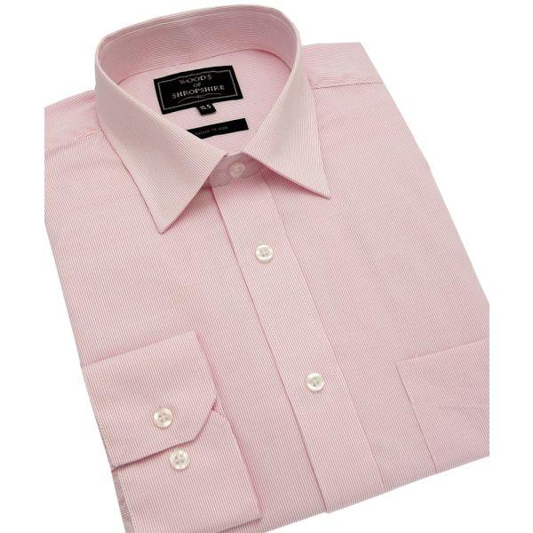 Fine Pink Stripe Easycare Shirt