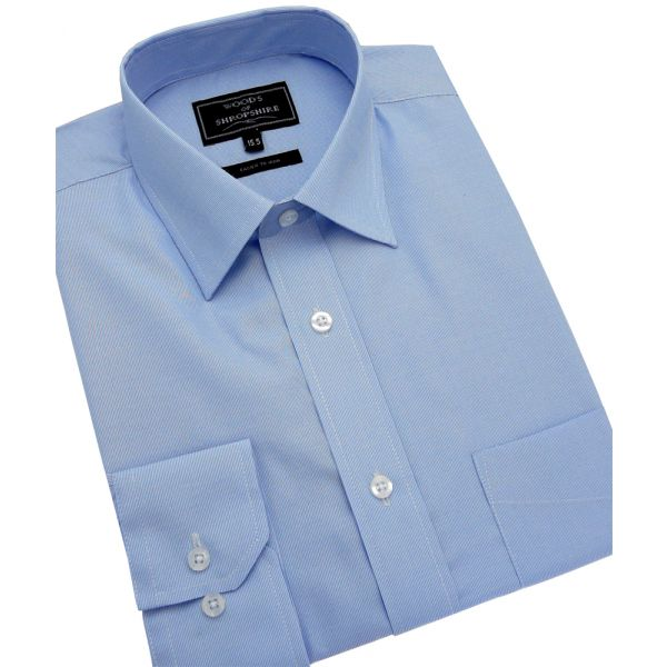 Fine Blue Stripe Easycare Shirt