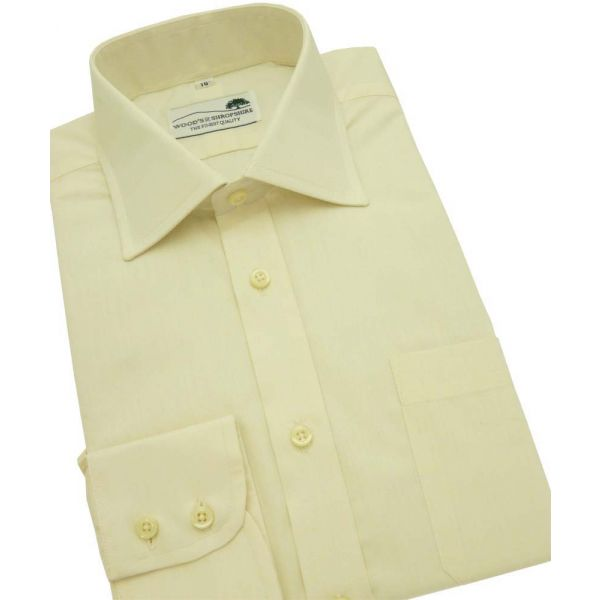 Cream Cotton Shirt Single Cuff