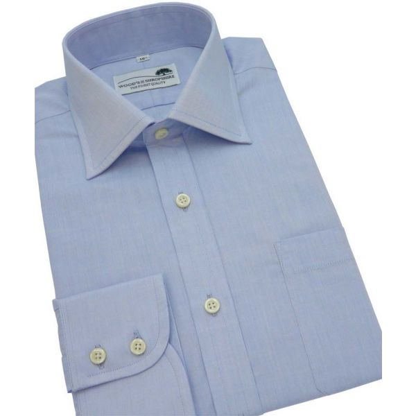 Blue Cotton Shirt Single Cuff