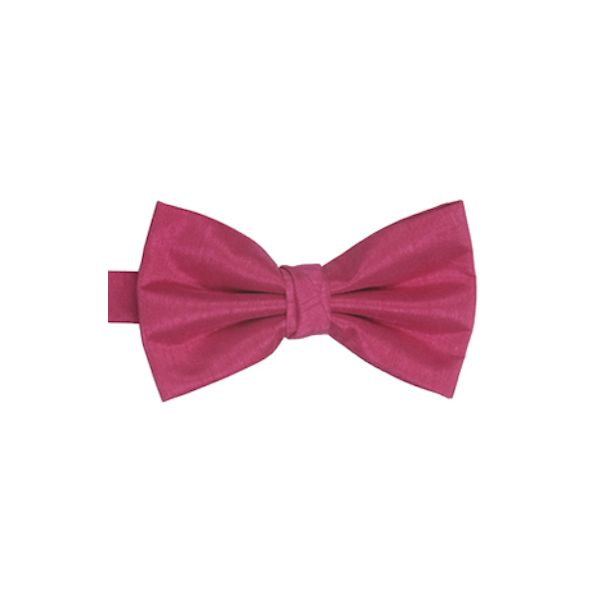 Fuchsia Polyester Shantung Men's Bow Tie