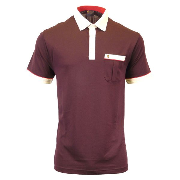 Classic Gabicci Polo Shirt With Contrast Collar and Trim