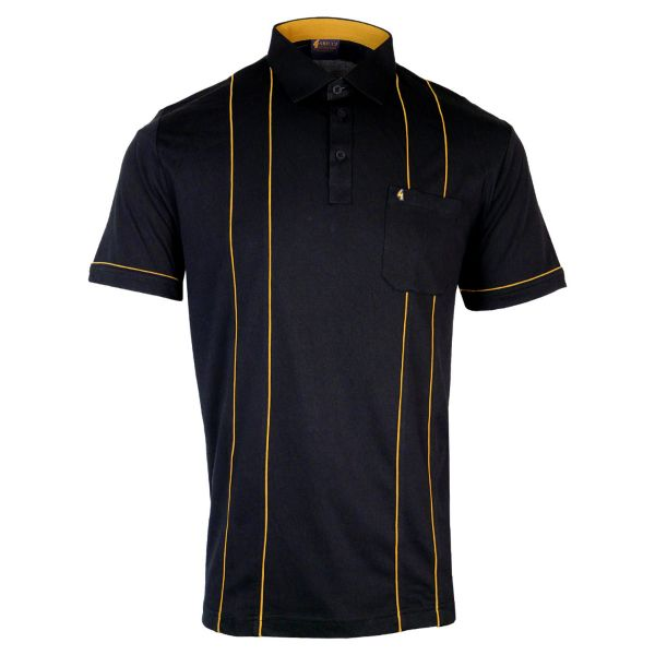 Classic Gabicci Polo Shirt with Pencil Stripe
