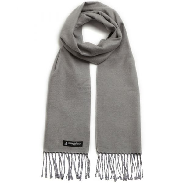 Light Grey/Black Brushed Silk Scarf by Knightsbridge Neckwear