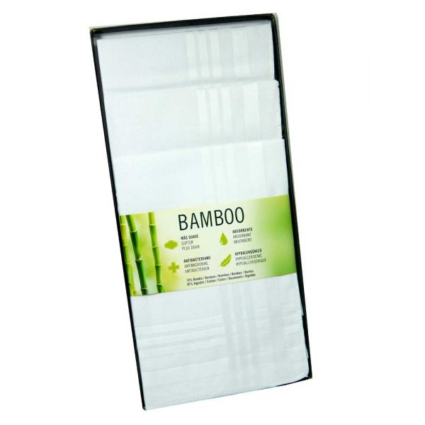 Three White Hankies in Bamboo from Guasch