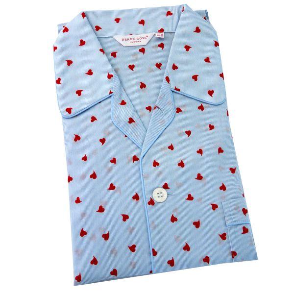 Derek Rose - Mens Cotton Pyjamas - Nelson 075 - Blue