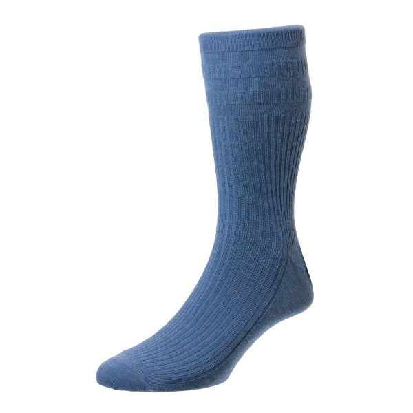 HJ90-(6-11) China Blue Wool Softop Sock