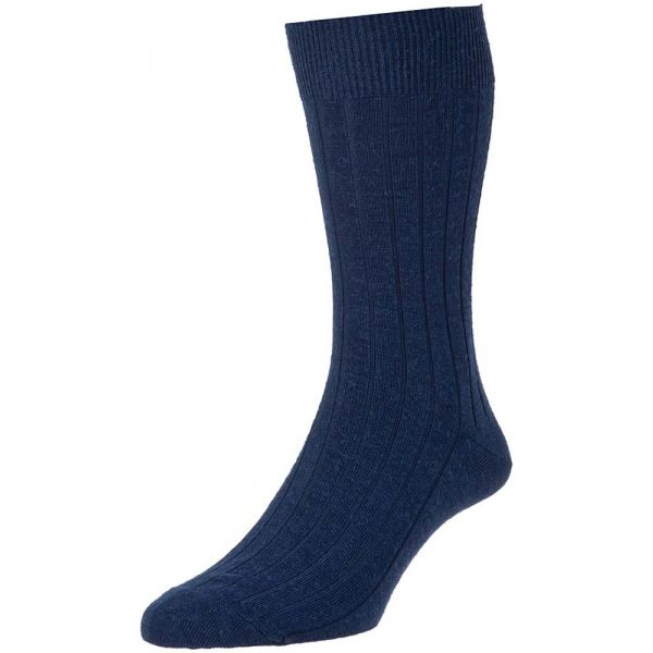 Navy Executive Wool Rich Sock from H J Hall