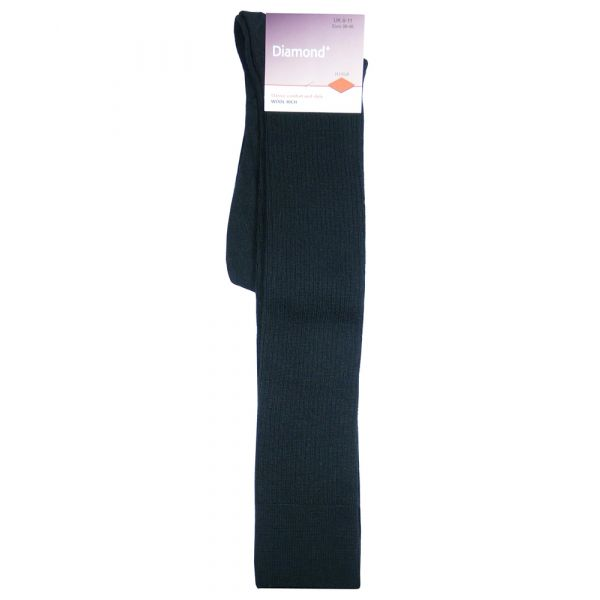 Black Immaculate Long Wool Rich Sock from H J Hall