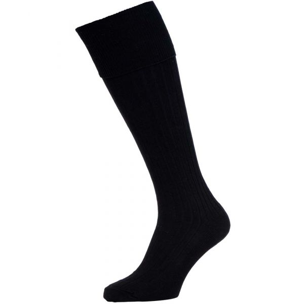 Black Cotton Bermuda Socks from H J Hall