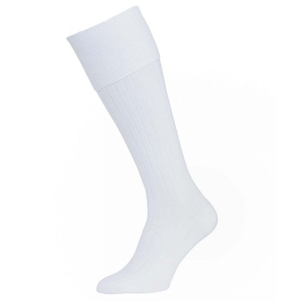 White Cotton Bermuda Socks from H J Hall