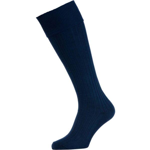 Navy Cotton Bermuda Socks from H J Hall