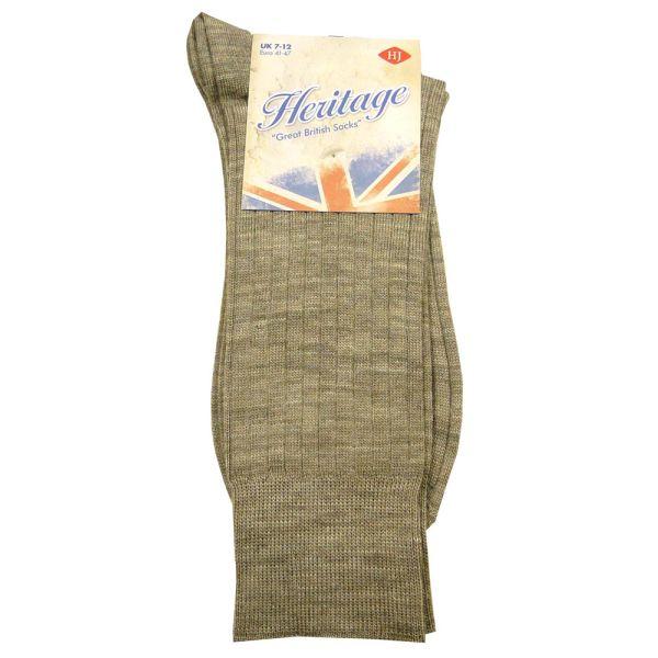 Half Calf Taupe Wool Sock