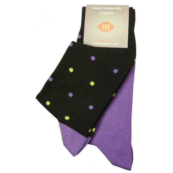 Black Spot and Purple Two Pair Pack from H J Hall