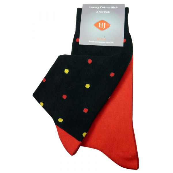 Black Spot and Red Two Pair Pack from H J Hall