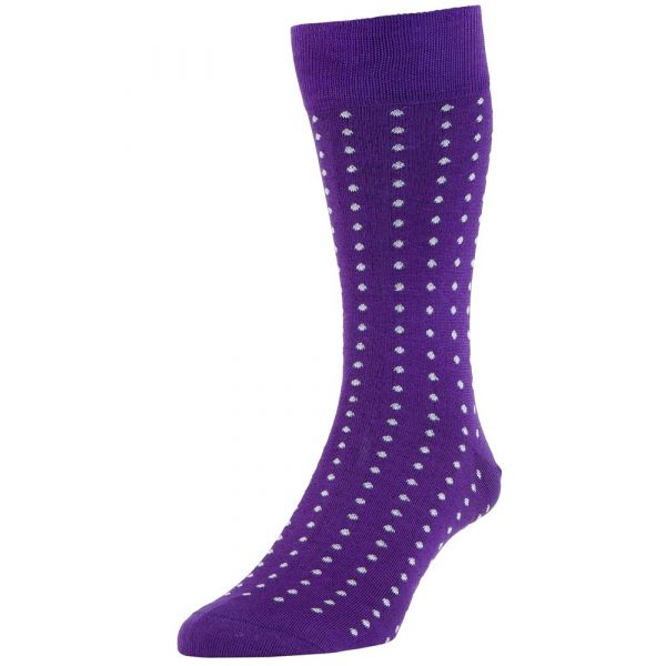 Crocus Vancouver Spotted Cotton Socks from H J Hall