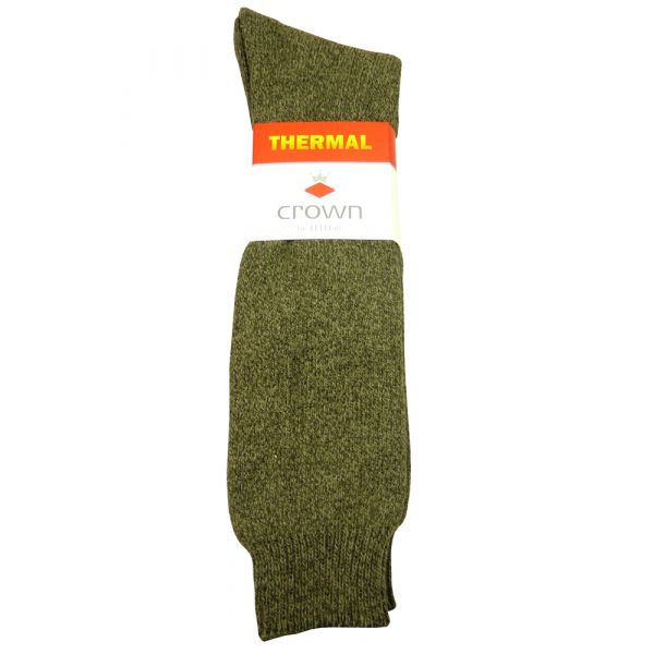 Green Marl Thermal Cushioned Sole Boot Sock