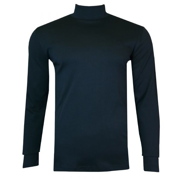 Mens Cotton Roll Neck Jumper in Black from Jockey