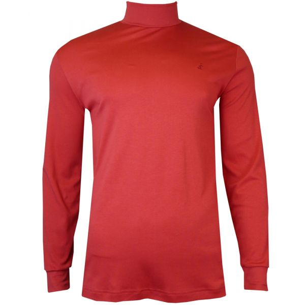 Mens Cotton Roll Neck Jumper in Red from Jockey