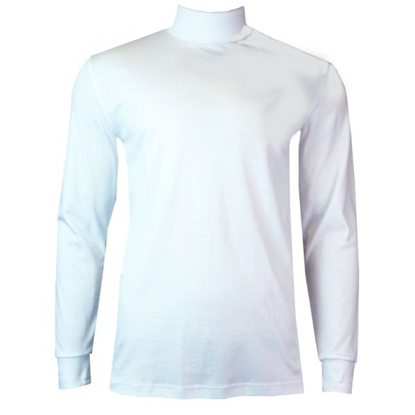 Mens Cotton Roll Neck Jumper in White from Jockey