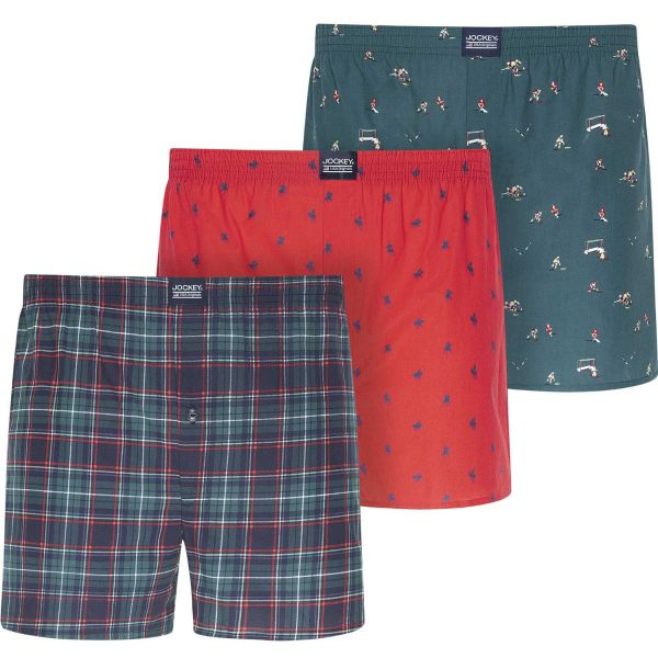 Jockey - Three Pack of Woven Boxer Shorts