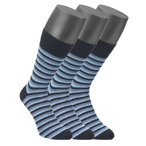 3 pack of striped cotton socks in Blue from Jockey