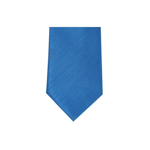 Kingfisher Blue Polyester Shantung Boy's Tie