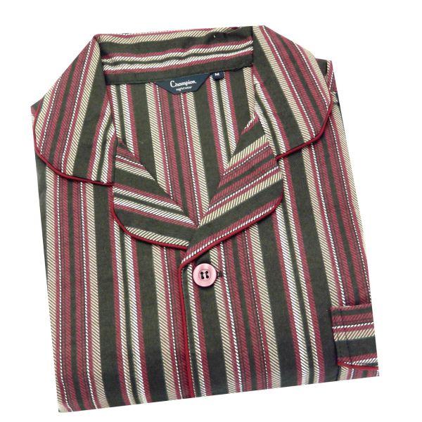 Kingston. Burgundy Stripe Cotton Pyjamas from Champion