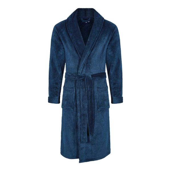 Knightsbridge - Mens Navy Fleece Dressing Gown from Champion