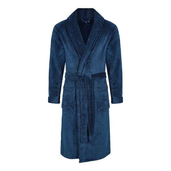 Knightsbridge - Mens Navy Fleece Dressing Gown from Champion