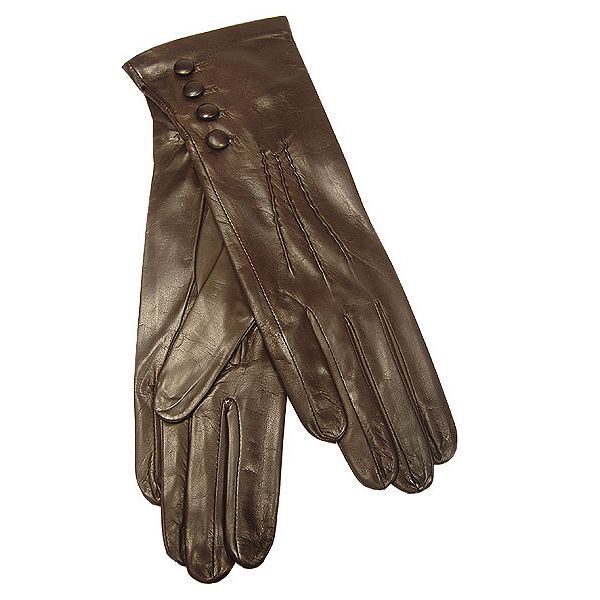 Extra Soft Ladies Nappa 4 Button Gloves (Brown)