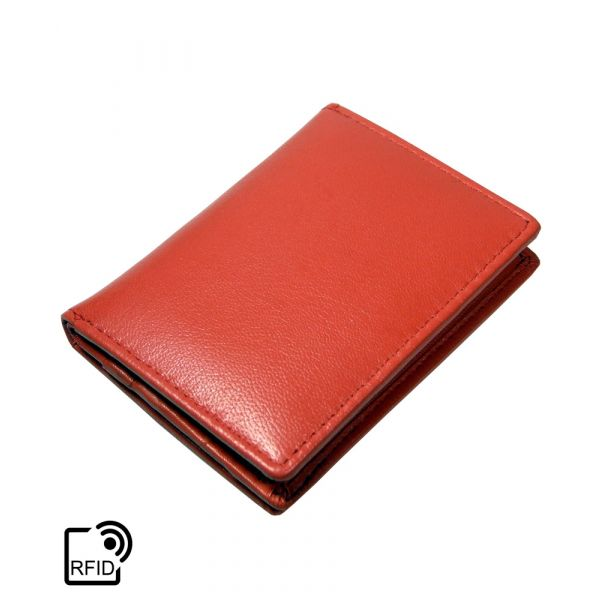 Coral Card Holder from Golunski Leather