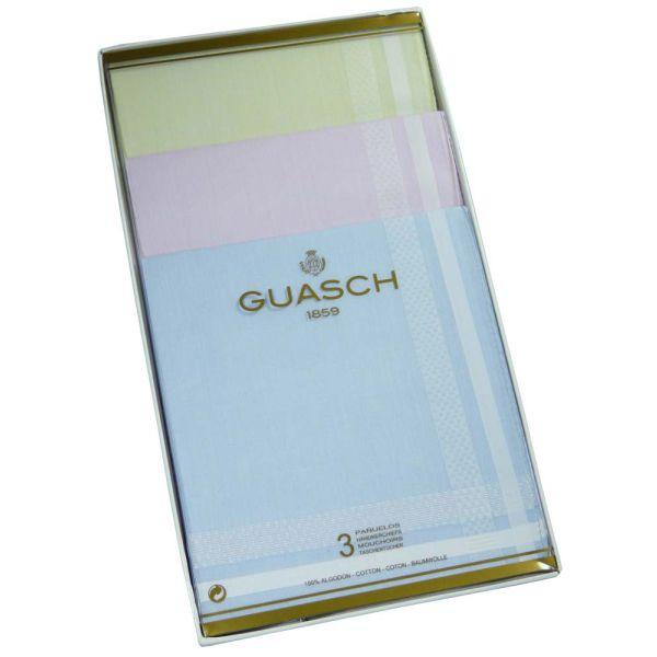 Pastel Check Bordered Ladies Cotton Handkerchiefs by Guasch