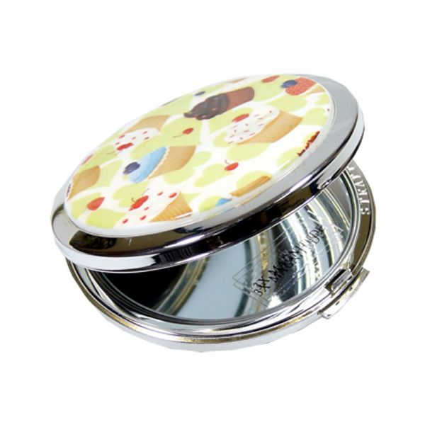 Cup Cakes Dual Mirror with Ceramic Lid