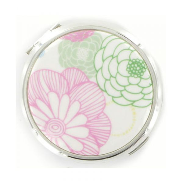 Petals Dual Mirror with Ceramic Lid